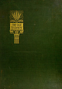 Gilded Green cloth book cover from the book ' The Old Testament : three hundred and ninety-six compositions illustrating the Old Testament ' Part II by J. James Tissot Published by M. de Brunoff in Paris, London and New York in 1904