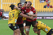 Crusaders Mitchell Dunshea makes a break in the Super Rugby match, Hurricanes v Crusaders, Sky Stadium, Wellington, Sunday, April 11, 2021. Copyright photo: Kerry Marshall / www.photosport.nz