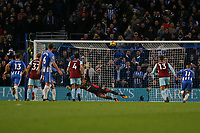 Football - 2017 / 2018 Premier League - Brighton and Hove Albion vs. Burnley<br /> <br /> Glenn Murray of Brighton blazes his penalty over the bar at The Amex Stadium Brighton <br /> <br /> COLORSPORT/SHAUN BOGGUST