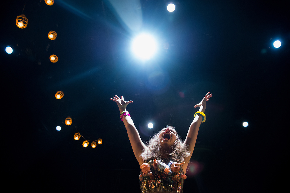 Isabelle Dickey, Ithaca College '21, performs in a production of Rent at the Hangar Theatre in Ithaca on April 28, 2018.