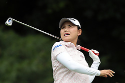 June 16, 2018 - Belmont, Michigan, United States - Sakura Yokomine of Japan tees off on the second tee during the third round of the Meijer LPGA Classic golf tournament at Blythefield Country Club in Belmont, MI, USA  Saturday, June 16, 2018. (Credit Image: © Jorge Lemus/NurPhoto via ZUMA Press)