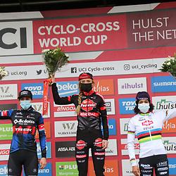 03-01-2021: Wielrennen: Vestingcross: Hulst: Denise Betsema: Lucinda Brand: Ceylin Alvarado