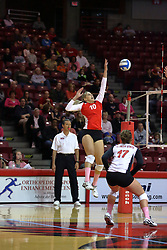 29 October 2011: Angela Rego times a strike During a match between the Creighton Bluejays and the Illinois State Redbirds at Redbird Arena in Normal Illinois