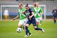 Aurelie Kaci / Anna Blasse - 26.04.2015 - Paris Saint Germain / Wolfsbourg - 1/2Finale Champions League feminine<br />Photo : Andre Ferreira / Icon Sport