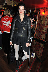 KARIN PARK at the JW Anderson Top Shop Party held at Madame Jojo's, 8-10 Brewer Street, London W1 on 17th September 2012.