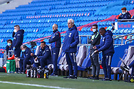 Cardiff City's Manager Mick McCarthy shouts instructions to his team from the dug-out during the EFL Sky Bet Championship match between Cardiff City and Nottingham Forest at the Cardiff City Stadium, Cardiff, Wales on 2 April 2021.