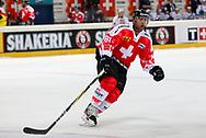 04.April 2012; Rapperswil-Jona; Eishockey - Schweiz - Finnland; Kevin Romy (SUI)<br />  (Thomas Oswald)