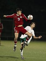 SPS boys varsity soccer with Deerfield Academy.    ©2017 Karen Bobotas Photographer