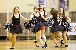 Cheerleaders perform during handball match between RK Gorenje Velenje vs RK Cimos Koper in 8th Round of 1st NLB Leasing Champions league 2011/12, on May 12, 2012 in Rdeca dvorana, Velenje, Slovenia. Gorenje defeated Cimos Koper 27-25. (Photo by Vid Ponikvar / Sportida.com)
