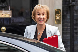 © Licensed to London News Pictures. 10/07/2018. London, UK. Leader of the House of Commons Andrea Leadsom arrives on Downing Street for the Cabinet meeting. Photo credit: Rob Pinney/LNP