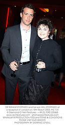 DR MIRIAM STOPPARD and her son WILL STOPPARD at a reception in London on 18th March 2003.PIC 131