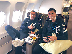 """Lukas Podolski releases a photo on Twitter with the following caption: """"""""Preseason ✈️🇺🇸💪🏻 #LosAngeles"""""""". Photo Credit: Twitter *** No USA Distribution *** For Editorial Use Only *** Not to be Published in Books or Photo Books ***  Please note: Fees charged by the agency are for the agency's services only, and do not, nor are they intended to, convey to the user any ownership of Copyright or License in the material. The agency does not claim any ownership including but not limited to Copyright or License in the attached material. By publishing this material you expressly agree to indemnify and to hold the agency and its directors, shareholders and employees harmless from any loss, claims, damages, demands, expenses (including legal fees), or any causes of action or allegation against the agency arising out of or connected in any way with publication of the material."""