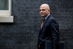 © Licensed to London News Pictures. 12/03/2019. London, UK. Home Secretary Sajid Javid arrives on Downing Street for a meeting of the Cabinet. MPs will get a second meaningful vote on Prime Minister Theresa May's Brexit deal this evening. Photo credit: Rob Pinney/LNP