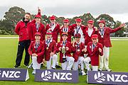 Winning team Huntley during the National Primary School Cup Final, Bert Sutcliffe Oval, Lincoln, New Zealand, 16th November 2018.Copyright photo: John Davidson / www.photosport.nz