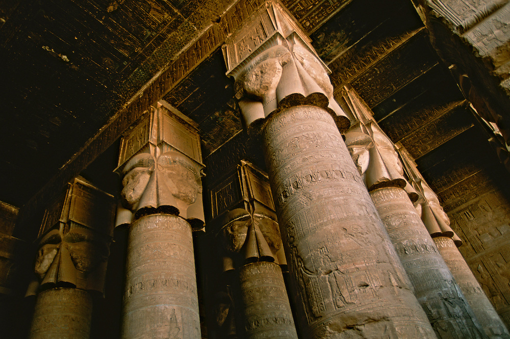Ruins of a temple from Ancient Egypt.