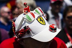 May 26, 2017 - Monaco, Monaco - Michael Schumacher and Ferrari fan with a fantastic cap during the Monaco Grand Prix of the FIA Formula 1 championship, at Monaco on 26th of 2017. (Credit Image: © Xavier Bonilla/NurPhoto via ZUMA Press)