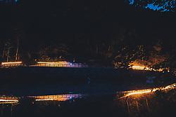 THEMENBILD - Touristen bei der Sagenhaften Nacht des Wassers bei einem Fackel Spaziergang durch die Sigmund Thun Klamm und Lagerfeuer Romantik, aufgenommen am 07. Juli 2020 in Kaprun, Österreich // Tourists at the Legendary Night of Water with a torchlight walk through the Sigmund Thun Gorge and bonfire romance, Kaprun, Austria on 2020/07/27. EXPA Pictures © 2020, PhotoCredit: EXPA/ JFK