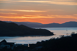 Sunset Over Yacht Club, Hamilton Island, Queensland, Australia