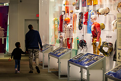 The Oklahoma Sooners tour the College Football Hall of Fame on Monday, Dec. 23, 2019, in Atlanta. LSU will face Oklahoma in the 2019 College Football Playoff Semifinal at the Chick-fil-A Peach Bowl. (Jason Parkhurst via Abell Images for the Chick-fil-A Peach Bowl)