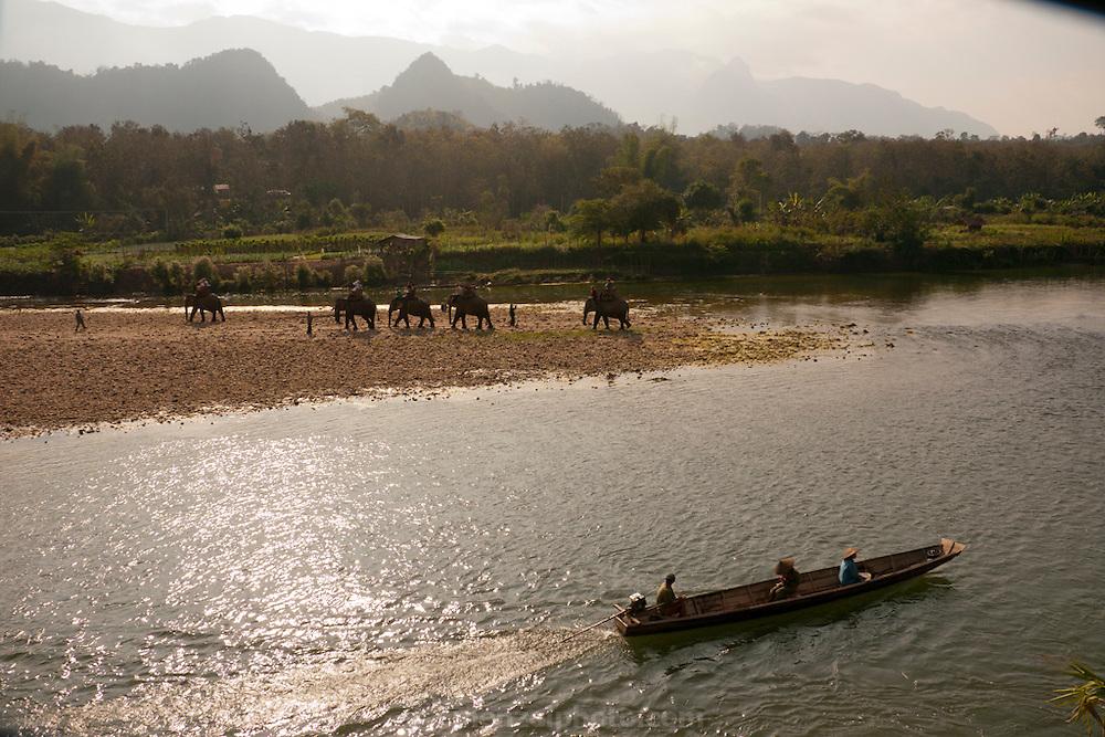 Elephant Village near Luang Prabang, Laos.