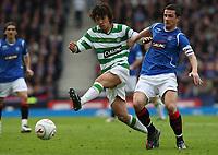 CIS Cup Final<br /> Celtic v Rangers<br /> Hampden Park<br /> Glasgow<br /> <br /> Nakamura and Ferguson<br /> 15/03/2009 Credit Colorsport / Ian MacNicol