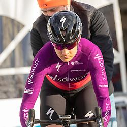 11-03-2021: Wielrennen: Healthy Ageing Tour: Lauwersoog. <br />Roxane Fournier