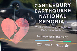 February 23, 2017 - Christchurch, Canterbury, New Zealand -  23/02/2017. Christchurch,New Zealand. Earthquake National memorial opens in Christchurch,22nd February 2017,exactly 6 years after the earthquake that killed 185 people and devastated half of all the buildings in Christchurch.  (Credit Image: © Mark Thomas/i-Images via ZUMA Press)
