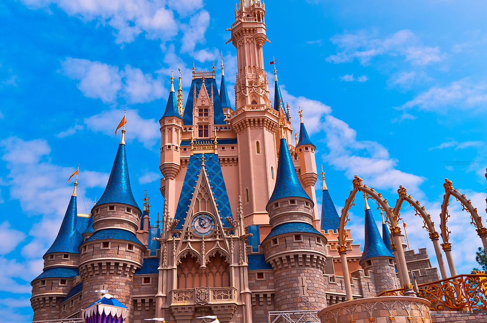 Cinderella Castle, Magic Kingdom, Walt Disney World, Orlando, Florida USA
