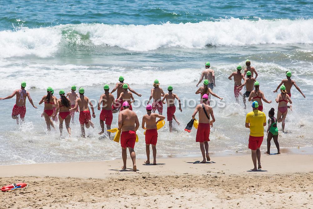 Girls and Boys in Lifeguard Training in Huntington Beach
