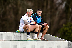 Jack Nowell and Jonny May of England look on - Mandatory by-line: Robbie Stephenson/JMP - 08/03/2019 - RUGBY - England - Training session ahead of Guinness Six Nations match against Italy