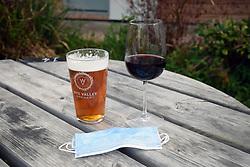 Outside drinking, Wales UK May 2021