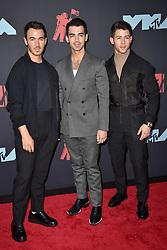 Nick Jonas, Joe Jonas, Kevin Jonas attend the 2019 MTV Video Music Awards at Prudential Center on August 26, 2019 in Newark, New Jersey. Photo by Lionel Hahn/ABACAPRESS.COM