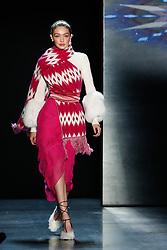 Prabal Gurung show, Runway, Fall Winter 2018, New York Fashion Week Model on the catwalk- Ashely Graham - Gigi Hadid and Bella Hadid-Romee Strijd. 11 Feb 2018 Pictured: Gigi-Hadid. Photo credit: Newspictures/ MEGA TheMegaAgency.com +1 888 505 6342