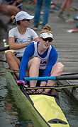 Plovdiv, Bulgaria, 9th May 2019, FISA, Rowing World Cup 1,  W2-, USA, USA2,(s) Emily REGAN,  (b)Felice MUELLER, boating for training outing.<br /> [© Peter SPURRIER]