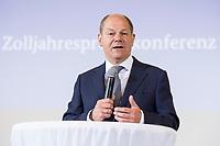 17 APR 2018, BERLIN/GERMANY:<br /> Olaf Scholz, SPD, Bundesfinanzminister, Zolljahrespressekonferenz, Bundesministerium der Finanzen<br /> IMAGE: 20180417-01-036