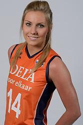 21-05-2014 NED: Selectie Nederlands volleybal team vrouwen, Arnhem<br /> Op Papendal werd het Nederlands team volleybal seizoen 2014-2015 gepresenteerd / Laura Dijkema