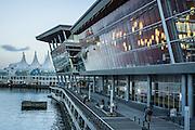 Vancouver Convention Centre, Vancouver Harbour, Vancouver, British Columbia, Canada.