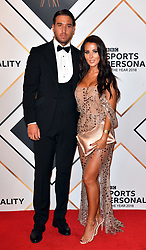 James Lock and Yazmin Oukhellou during the red carpet arrivals for the BBC Sports Personality of the Year 2018 at The Vox at Resorts World Birmingham.
