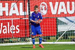 NEWPORT, WALES - Tuesday, July 24, 2018: Goalkeeper Alex Ward-Jones during the Welsh Football Trust Cymru Cup 2018 at Dragon Park. (Pic by Paul Greenwood/Propaganda)