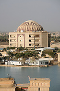 The Perfume Palace, used by the United States Forces for the Iraq joint intelligence operations in what was known as the Green Zone during the Iraq war.  The Green Zone is in  the Karkh district of central Baghdad, Iraq, that was the governmental center of the Coalition Provisional Authority and remains the center of the international presence in the city.