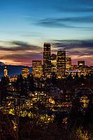 Seattle Skyline, Evening