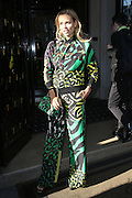 NATASHA POLY LEAVES HOTEL GEORGE V<br /> ©Exclusivepix Media