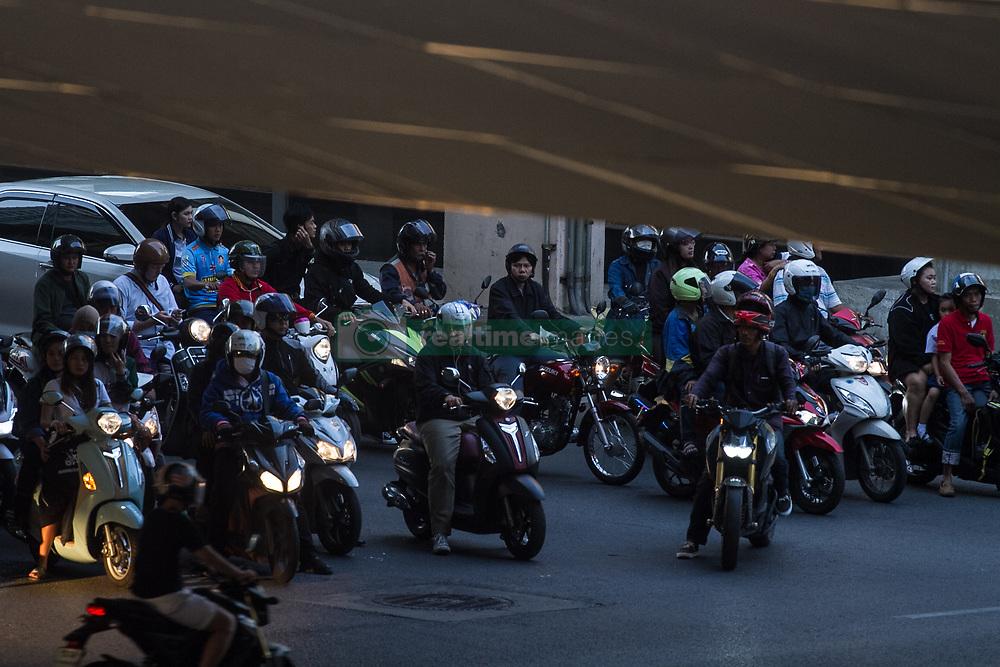February 6, 2018 - Thailand - Traffic jams are a part of living in Bangkok. (Credit Image: © Vichan Poti/Pacific Press via ZUMA Wire)