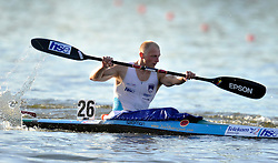 JOST ZAKRAJSEK (SLOVENIA) COMPETES IN MEN'S K1 5000 METERS FINAL A RACE DURING 2010 ICF KAYAK SPRINT WORLD CHAMPIONSHIPS ON MALTA LAKE IN POZNAN, POLAND...POLAND , POZNAN , AUGUST 21, 2010..( PHOTO BY ADAM NURKIEWICZ / MEDIASPORT ).
