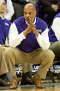 FORT WORTH, TX - JANUARY 7: TCU Horned Frogs head coach Trent Johnson looks on against the Kansas State Wildcats on January 7, 2014 at Daniel-Meyer Coliseum in Fort Worth, Texas.  (Photo by Cooper Neill/Getty Images) *** Local Caption *** Trent Johnson