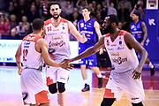 Wright Chris Wright Julian Cervi Riccardo<br /> Grissin Bon Reggio Emilia - Germani Basket Brescia<br /> Lega Basket  Serie A  2017/2018<br /> Bologna, 04/04/2018<br /> Foto A.Giberti / Ciamillo - Castoria