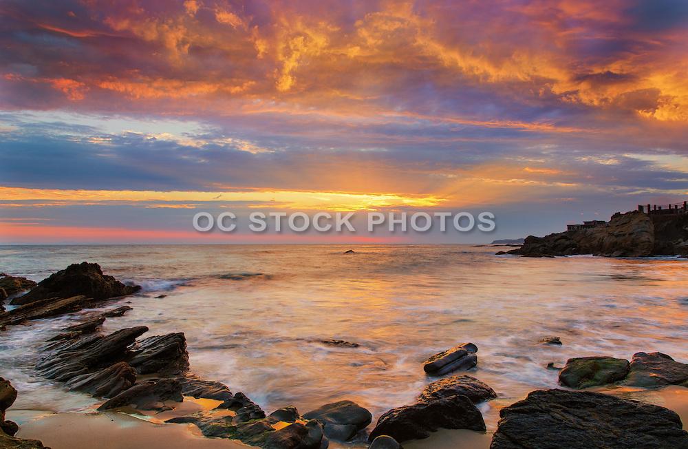 The Coast of Laguna Beach California at Dusk
