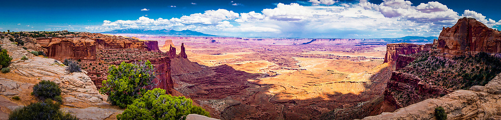Panorama of River Carved Valley in Canyonlands National Park in Moab, Utah. ©justinalexanderbartels.com