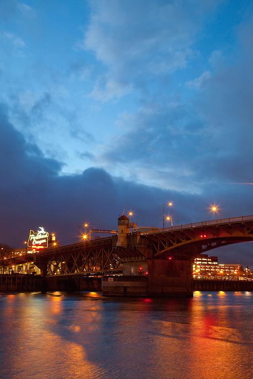 Burnside Bridge in Portland Oregon