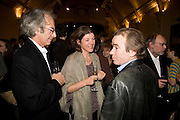 ERIC ABRAHAM, SIGRID RAUSING AND MARTIN AMIS, party to celebrate the 100th issue of Granta magazine ( guest edited by William Boyd.) hosted by Sigrid Rausing and Eric Abraham. Twentieth Century Theatre. Westbourne Gro. London.W11  15 January 2008. -DO NOT ARCHIVE-© Copyright Photograph by Dafydd Jones. 248 Clapham Rd. London SW9 0PZ. Tel 0207 820 0771. www.dafjones.com.